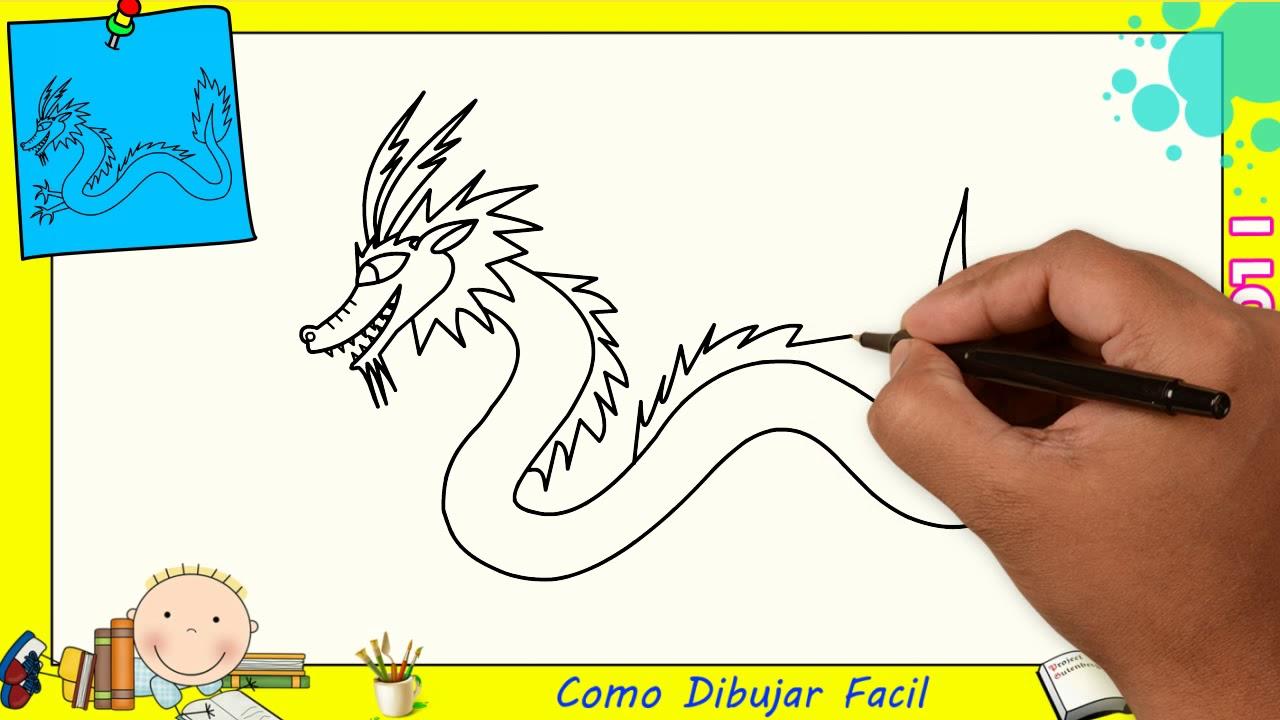 Dibujos De Dragones FACILES Paso A Paso Para Niños