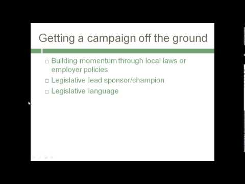 Trans Advocacy Network Webinar - Passing Employment Non discrimination Policies - May 5, 2014