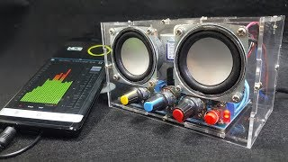 Build a Amplifier Two Channel Speaker Audio with DIY KIT
