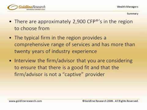 Goldline Research Wealth Managers Northern California Industry Overview