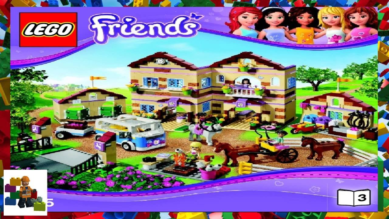 Lego friends summer riding camp (3185) 100% complete with.