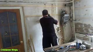 видео Ремонт кухни 6 кв м: отделка своими руками
