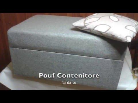 Pouf contenitore fai da te youtube for Fontana fai da te