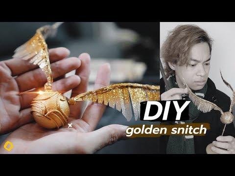 ทำลูกสนิช golden snitch ใน Harry Potter - จงทำDIY