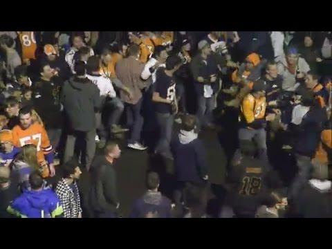 Crowds pack downtown Denver, close roads after Broncos Super Bowl 50 victory