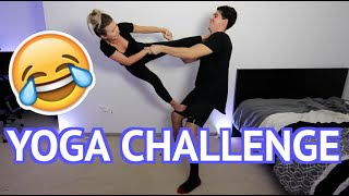 YOGA CHALLENGE WITH GIRLFRIEND!