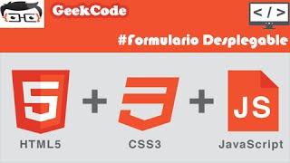 Formulario desplegable con HTML - CSS - jQuery