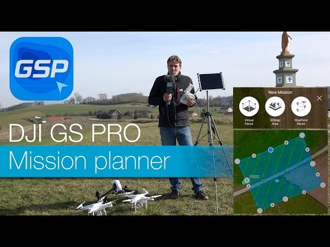 DJI GS Pro - tuto and test with P3P / P4P and Inspire X5