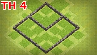 Clash of Clans - Town Hall 4 (COC TH4) Farming base, Farming base