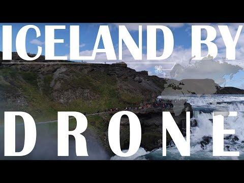 世界トップの絶景アイスランド × ドローングトルフォスの滝から虹まで出現