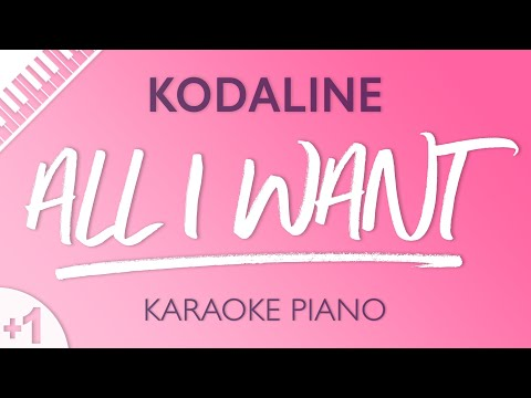 All I Want (HIGHER Piano Karaoke) Kodaline