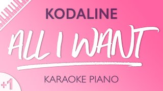 Download Lagu All I Want (HIGHER Piano Karaoke) Kodaline Mp3