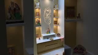 Mandir designed in PU in janak puri New Delhi by Lakkadworks +91-9999381022 www.lakkadworks.com