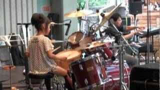 Gypsy Wind / Casiopea(cover) by 8years Drummer Girl