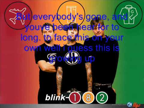 blink 182 I Guess This is Growing Up/Dammit lyrics
