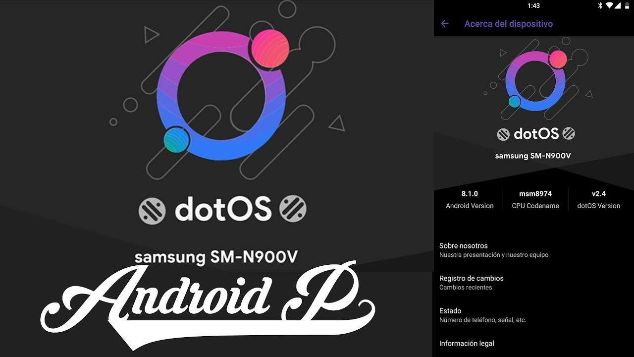 ROM dotOS O 8 1 0 Galaxy Note 3