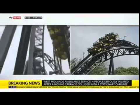 Smiler Crash At Alton Towers   2 Carriages Collide 16 People Injured VIDEO