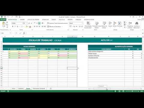 Usando O Excel Para Montar Uma Planilha De Escala De