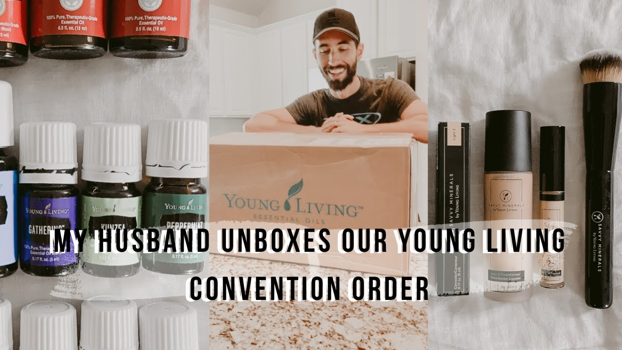 My Husband Unboxes Our Young Living Convention Order