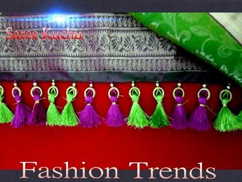 Saree Tassel Kuchu Making With Beads At Home Design 12 Youtube