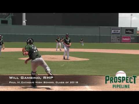 Will Gambino prospect video, RHP, Paul VI Catholic High School Class of 2018
