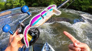 Catching RIVER Bass on MASSIVE RATS!! (TOPWATER ACTION!!)