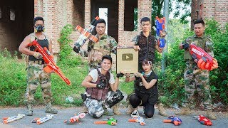 LTT Nerf War : SEAL X Warriors Nerf Guns Fight Criminal Group Gold Button