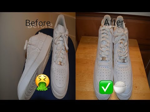 HOW TO CLEAN AIR FORCE 1 WITH HOUSEHOLD ITEMS!!