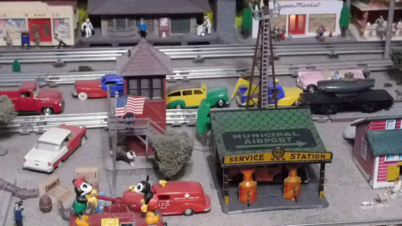 Tour Of My O Gauge, 1950's Toy Train Layout