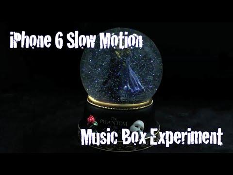 iPhone 6 Slow Motion Snow Globe Music Box Experiment
