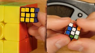Tiny 15mm Nano Rubik's Cube Solved in 25.14 Seconds!
