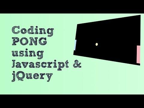 Coding PONG using Javascript & jQuery