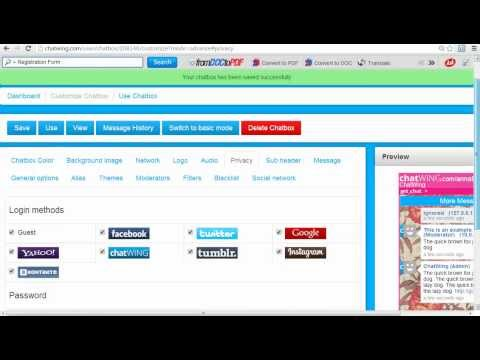 Creating website chat room -  web developer india