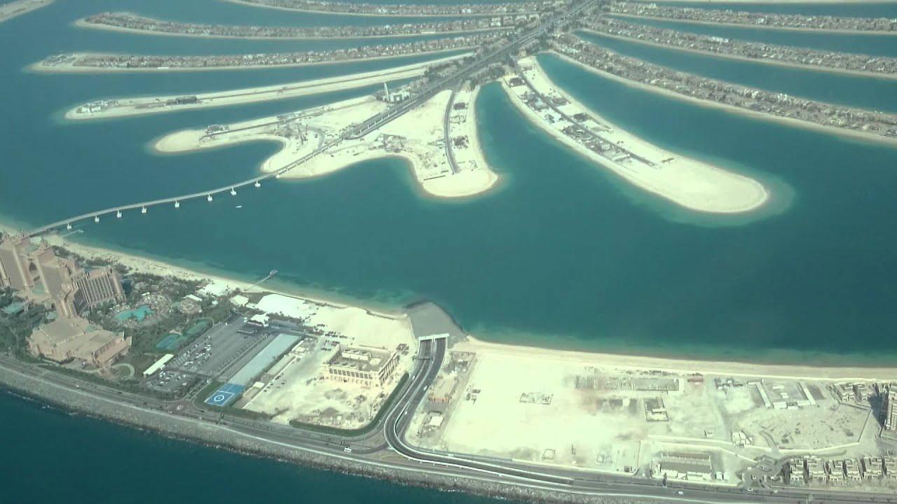 Palm Jumeirah in Dubai from Cessna -2014- - YouTube