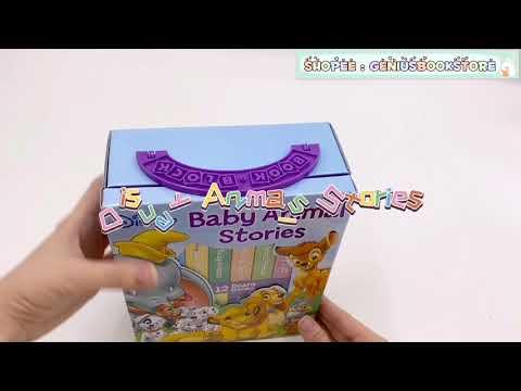 [ Genius Baby House ] 12 Board Books Disney Baby Animal Stories Book BK1981