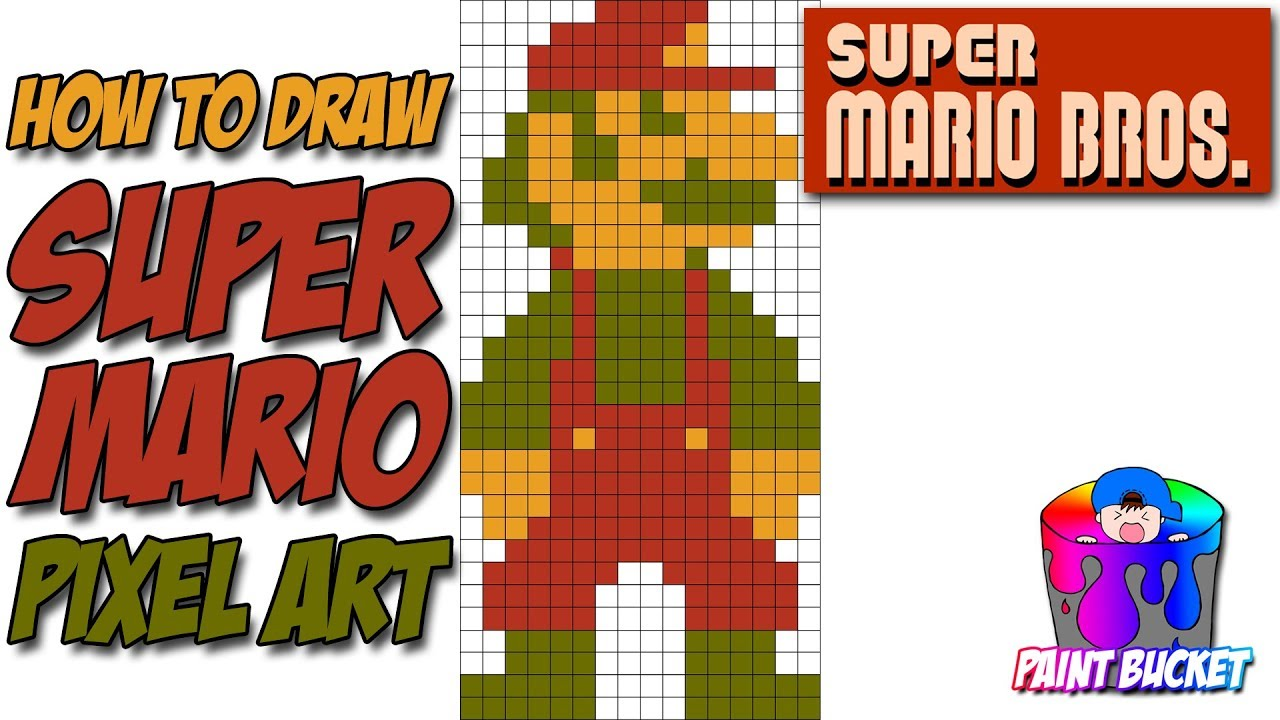 How To Draw Super Mario Super Mario Bros Pixel Art Drawing
