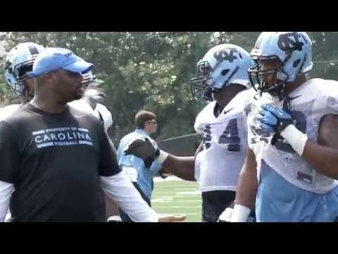 UNC Football: Players Post Practice - Defense - 8/7