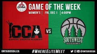 OSBA GOTW: Capital Courts vs. Southwest Academy (Women)