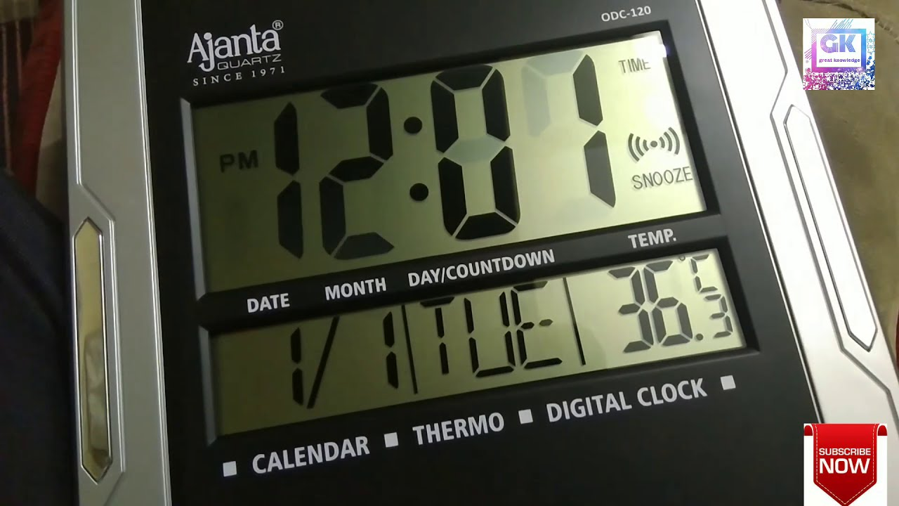 Ajanta ODC 120 wall clock time setting (how to set time in digital on
