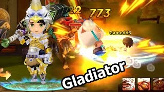 LINE Dragonica Mobile รีวิว อาชีพ Gladiator และ Skill