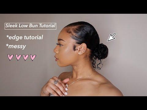 Sleek Low Bun Tutorial + Edges