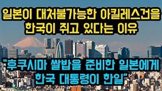 """일본이 대처불가능한 아킬레스건을 한국이 쥐고 있다는 이유, """"후쿠시마 쌀밥을 준비한 일본에게 한국 대통령이 한일"""""""