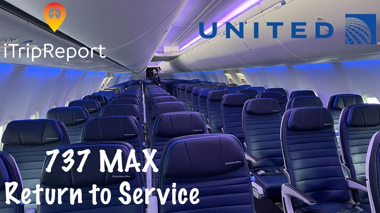 United 737 MAX 9 Re-Inaugural Economy Class