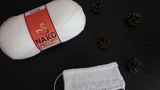 Вязание: Обзор на пряжу Nako Super İnci Narin
