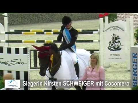 Hindelang Cup 2012 . Siegerin Kirsten SCHWEIGER - Stechen S* u Siegerehrung - Ingolstadt-Hagau