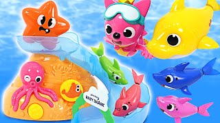 상어가족 아기상어, 핑크퐁과 함께 아쿠아리움에서 물놀이…