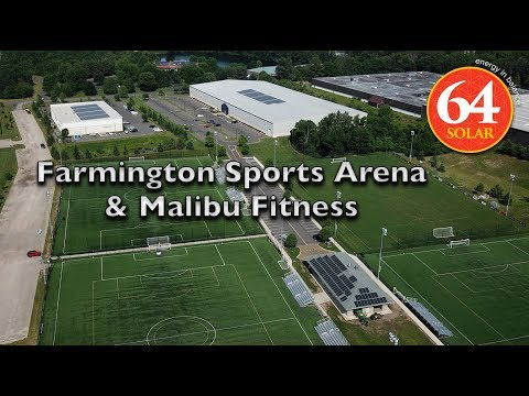 Farmington Sports Arena & Malibu Fitness go solar with 64 Solar