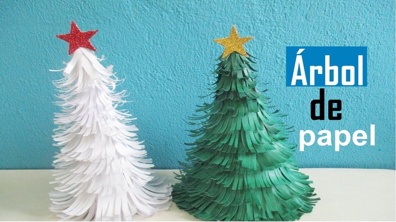Como hacer un arbol de navidad sencillo