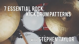 Beginner Drum Lesson - 7 Essential Rock Kick Patterns
