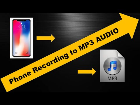 How to convert phone recording to MP3 for free?